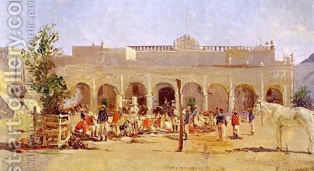 Mexican Scene, 1865-66 by Conrad Wise Chapman - Reproduction Oil Painting
