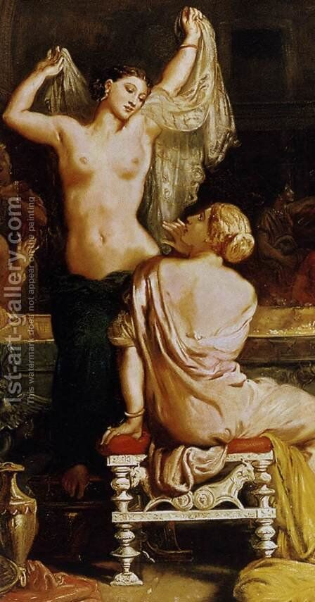 The Tepidarium (detail) 1853 by Theodore Chasseriau - Reproduction Oil Painting