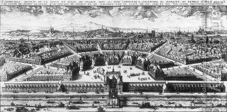 Project of the Place de France in Paris 1609 by Claude Chastillon - Reproduction Oil Painting