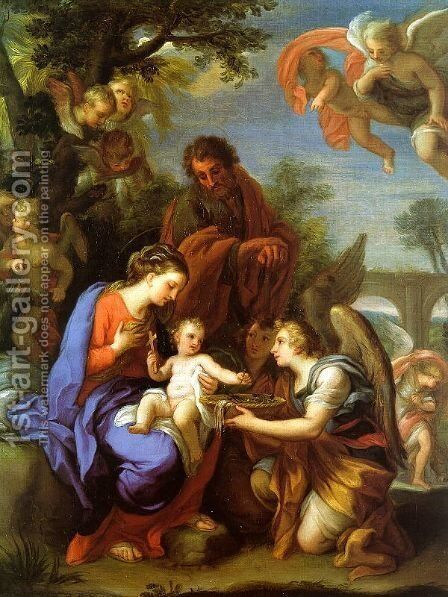 The Rest on the Flight into Egypt by Giuseppe Chiari - Reproduction Oil Painting