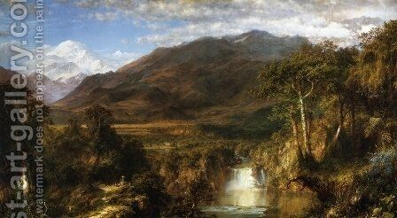 The Heart of the Andes 1859 by Frederic Edwin Church - Reproduction Oil Painting