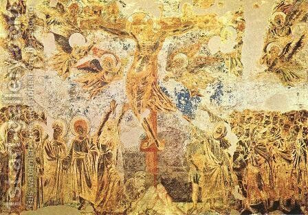 Crucifix 1280-83 by (Cenni Di Peppi) Cimabue - Reproduction Oil Painting