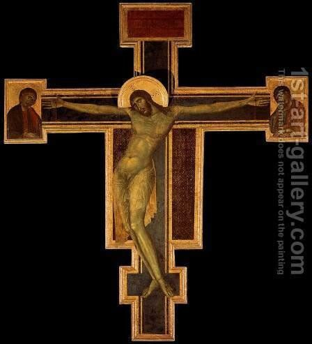 Crucifix 1287-88 by (Cenni Di Peppi) Cimabue - Reproduction Oil Painting