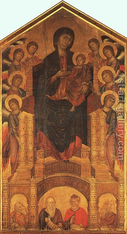Maesta 1280-85 by (Cenni Di Peppi) Cimabue - Reproduction Oil Painting