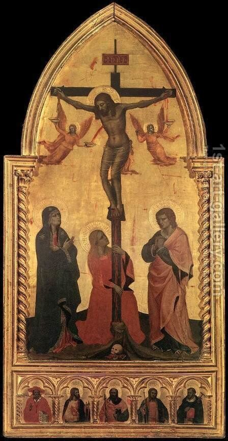 Crucifixion 1350-60 by Nardo di Cione - Reproduction Oil Painting
