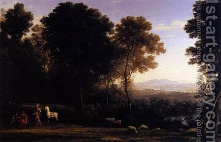 Erminia and the Shepherds 1666 by Claude Lorrain (Gellee) - Reproduction Oil Painting