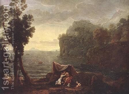Landscape with Acis and Galathe 1657 by Claude Lorrain (Gellee) - Reproduction Oil Painting