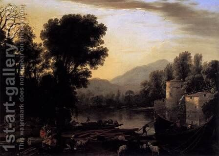 The Mill 1631 by Claude Lorrain (Gellee) - Reproduction Oil Painting
