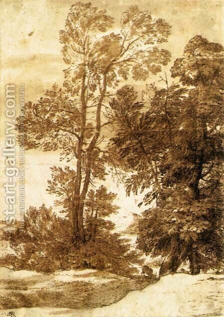 Trees by Claude Lorrain (Gellee) - Reproduction Oil Painting