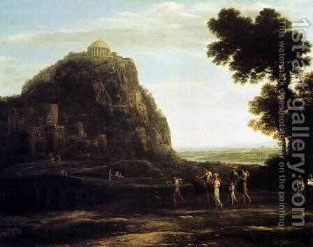 View of Delphi 1672 by Claude Lorrain (Gellee) - Reproduction Oil Painting