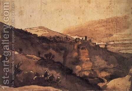 View of Tivoli by Claude Lorrain (Gellee) - Reproduction Oil Painting