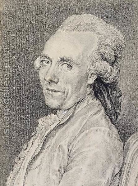 Portrait of Claude-Joseph Vernet 1779 by Charles-Nicolas II Cochin - Reproduction Oil Painting
