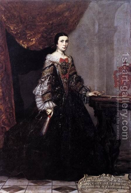 Portrait of Teresa Francisca Mudarra y Herrera c. 1690 by Jean Clouet - Reproduction Oil Painting