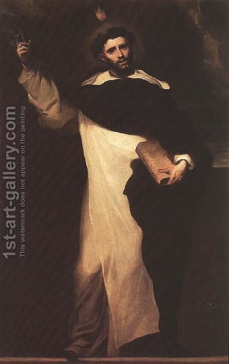 St Dominic 1691 by Claudio Coello - Reproduction Oil Painting