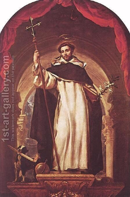St Dominic of Guzman by Claudio Coello - Reproduction Oil Painting