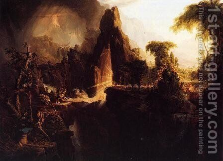 Expulsion from the Garden of Eden, 1828 by Thomas Cole - Reproduction Oil Painting