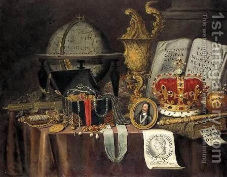 Vanitas Still-Life 1705 by Edwart Collier - Reproduction Oil Painting