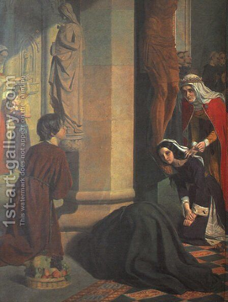 St. Elizabeth of Hungary (detail) 1848-50 by James Collinson - Reproduction Oil Painting