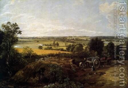 The Stour-Valley with the Church of Dedham 1814 by John Constable - Reproduction Oil Painting