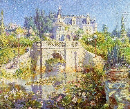 A California Water Garden at Redlands by Colin Campbell Cooper - Reproduction Oil Painting