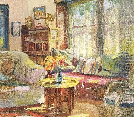 Cottage Interior by Colin Campbell Cooper - Reproduction Oil Painting