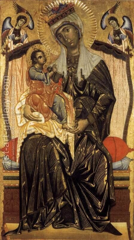 Madonna and Child c. 1265 by Coppo Di Marcovaldo - Reproduction Oil Painting