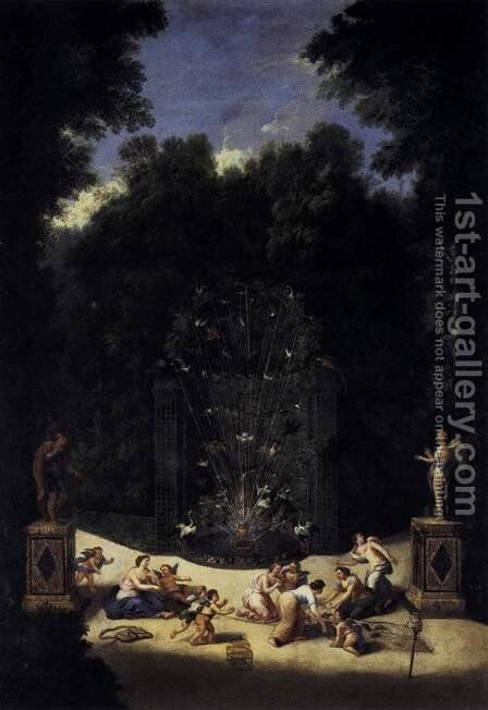 Entrance to the Maze 1688-90 by Jean II Cotelle - Reproduction Oil Painting