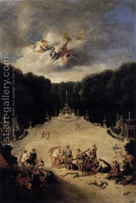 View of the Arch of Triumph Grove 1688-90 by Jean II Cotelle - Reproduction Oil Painting