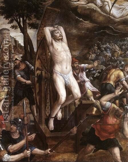 The Torture of St George 1580s by Michiel van Coxie - Reproduction Oil Painting