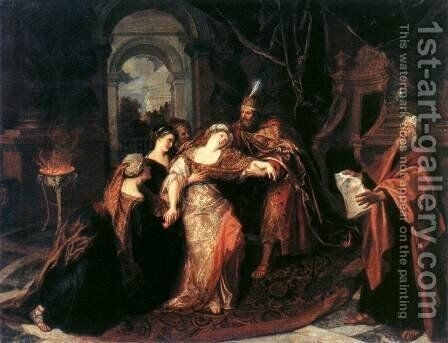 The Swooning of Esther c. 1704 by Antoine Coypel - Reproduction Oil Painting