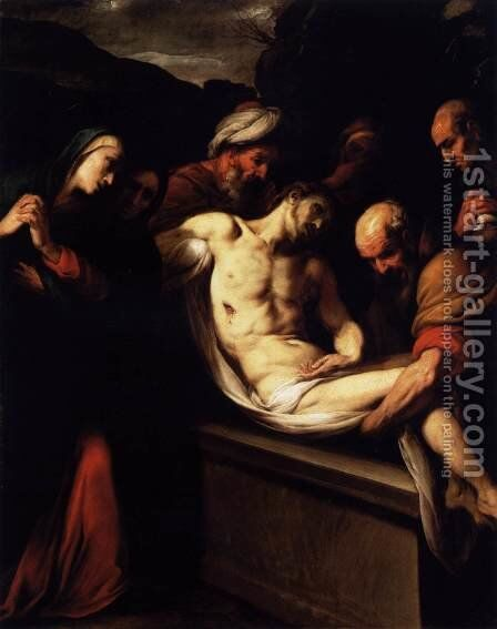 The Entombment 1620s by Daniele Crespi - Reproduction Oil Painting