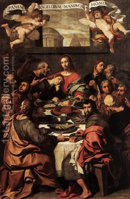 The Last Supper 1624-25 by Daniele Crespi - Reproduction Oil Painting