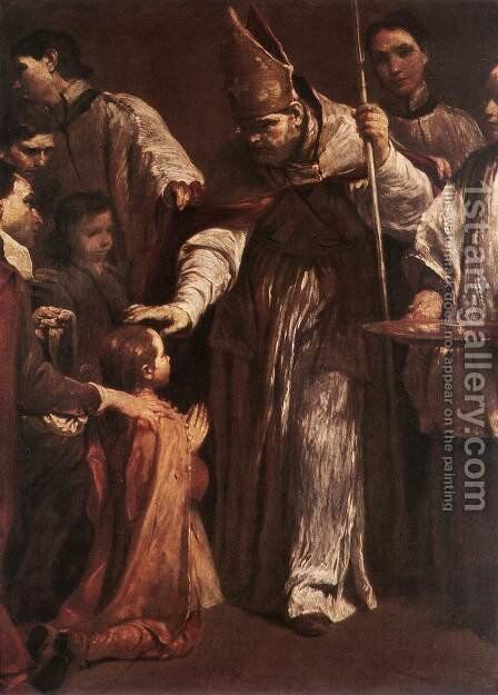 Confirmation 1712 by Giuseppe Maria Crespi - Reproduction Oil Painting