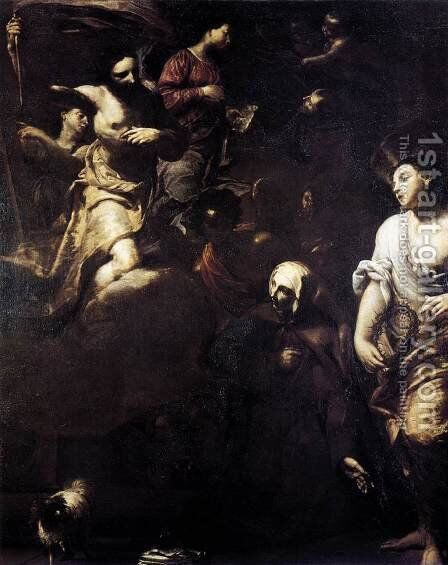 Ecstasy of St Margaret of Cortona 1701 by Giuseppe Maria Crespi - Reproduction Oil Painting