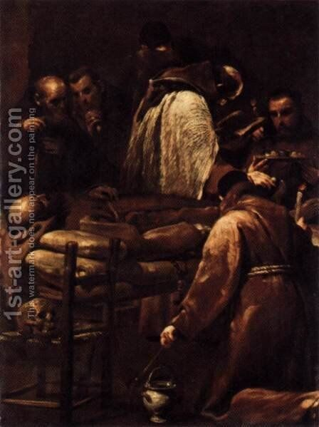 Extreme Unction 1712 by Giuseppe Maria Crespi - Reproduction Oil Painting