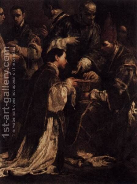 Ordination 1712 by Giuseppe Maria Crespi - Reproduction Oil Painting