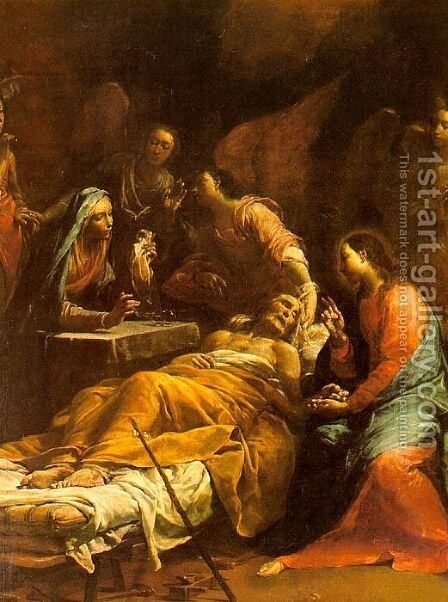 The Death of St. Joseph 1712 by Giuseppe Maria Crespi - Reproduction Oil Painting