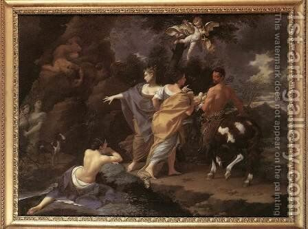 Achilles Handing over to Chiron by Donato Creti - Reproduction Oil Painting