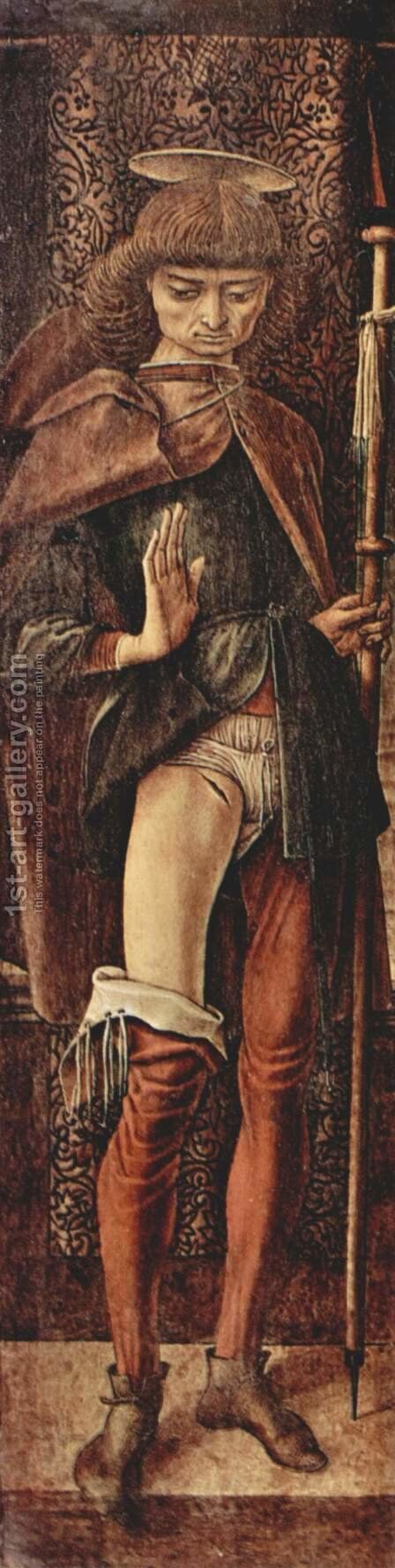St. Roch by Carlo Crivelli - Reproduction Oil Painting
