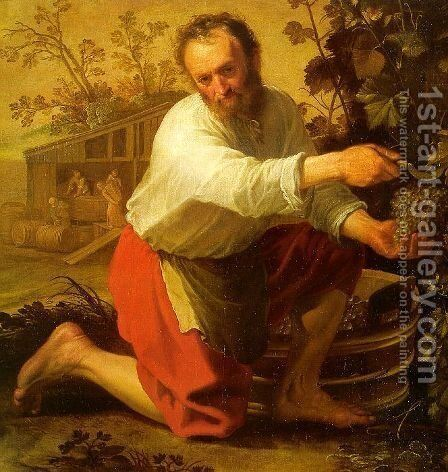 The Grape Grower 1628 by Jacob Gerritsz. Cuyp - Reproduction Oil Painting