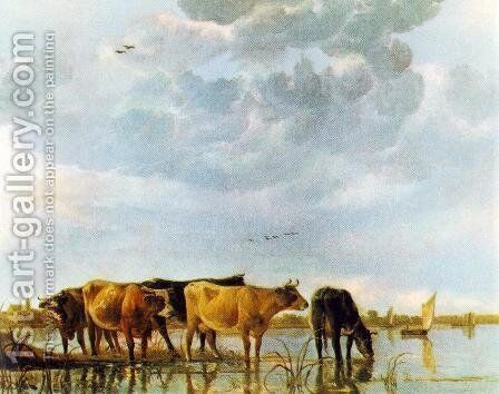 Cows in the Water by Aelbert Cuyp - Reproduction Oil Painting