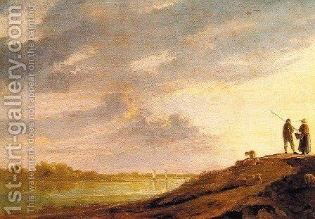 River Sunset by Aelbert Cuyp - Reproduction Oil Painting