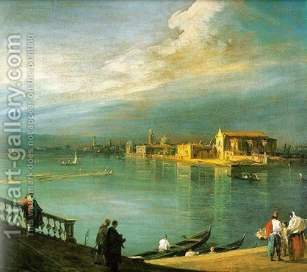 San Cristoforo  San Michele and Murano   From Fondamenta Nuova, 1725-30 by (Giovanni Antonio Canal) Canaletto - Reproduction Oil Painting