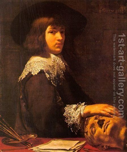 Self Portrait 1636 by Jean Daret - Reproduction Oil Painting