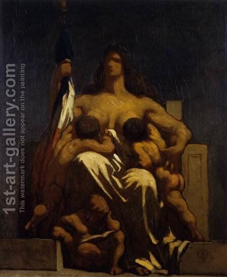 The Republic 1848 by Honoré Daumier - Reproduction Oil Painting