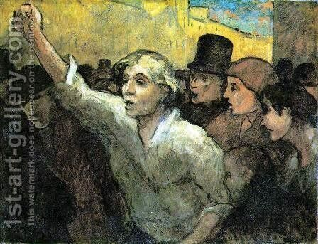 The Uprising c. 1860 by Honoré Daumier - Reproduction Oil Painting
