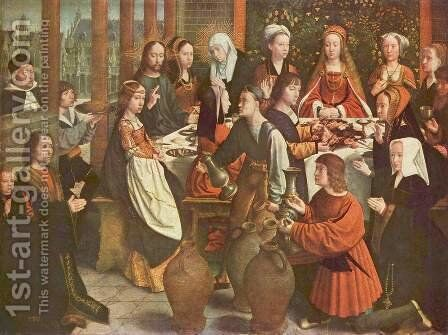 The Marriage at Cana c. 1500 by Gerard David - Reproduction Oil Painting