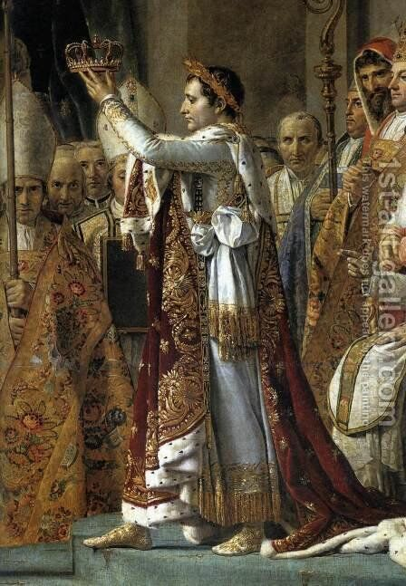 Consecration of the Emperor Napoleon I (detail 1) 1805-07 by Jacques Louis David - Reproduction Oil Painting