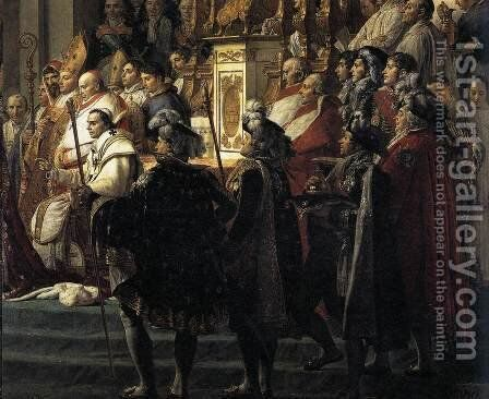 Consecration of the Emperor Napoleon I (detail 3) 1805-07 by Jacques Louis David - Reproduction Oil Painting