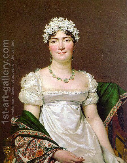 Portrait of Countess Daru 1810 by Jacques Louis David - Reproduction Oil Painting